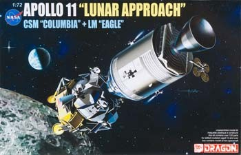 "Apollo 11 ""Lunar Approach"" CSM ""Columbia"" + LM ""Eagle"""