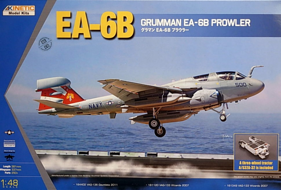 1/48 EA-6B (NEW WING TOOLING) w/tractor