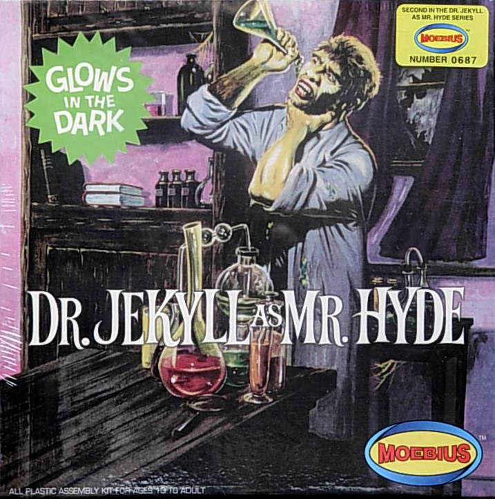 Dr. Jekll as Mr. Hyde figure set- Glow-in-the-dark version