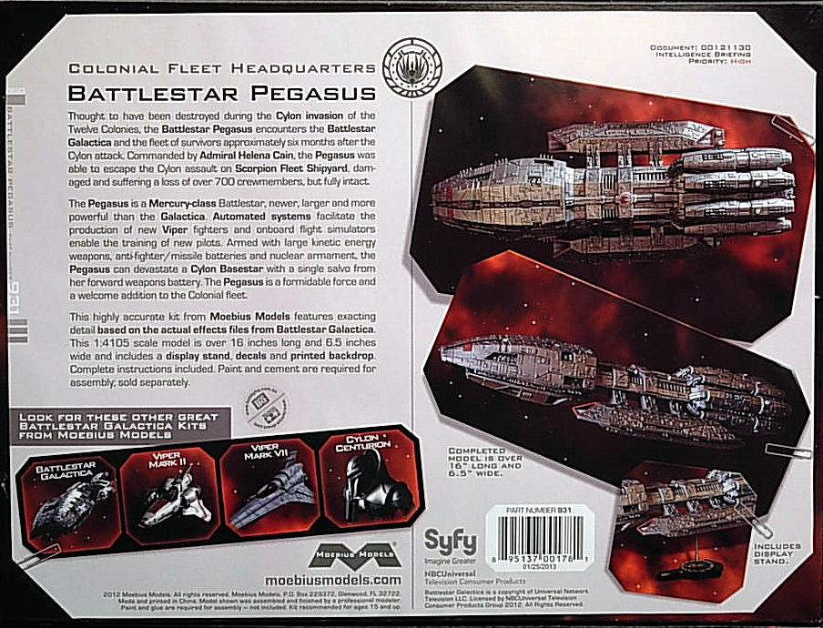 Battlestar Galactica- Pegasus - Click Image to Close