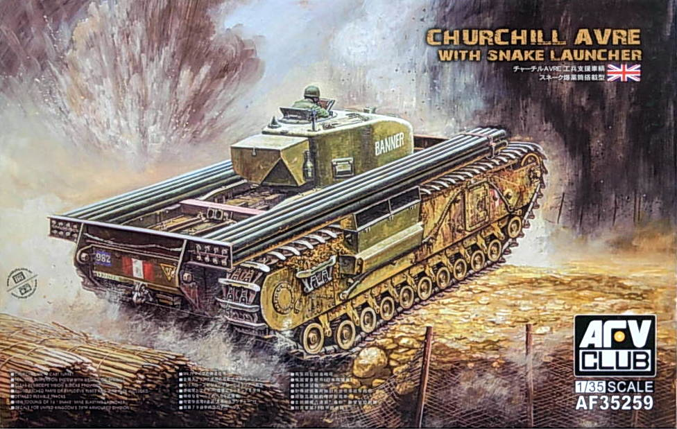 Chruchill AVRE with Snake Launcher - Click Image to Close