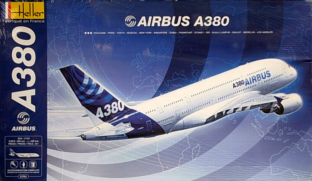 Airbus A380-800 (w/paints & glue)- Largest kit for an A380