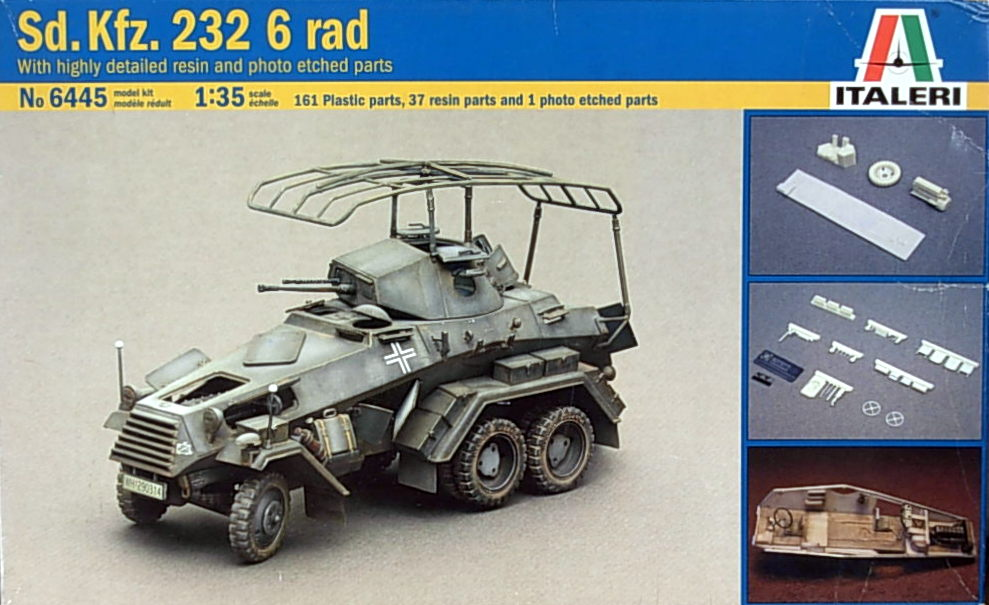 SdKfz232- 6 Rad w/ resin & etch details