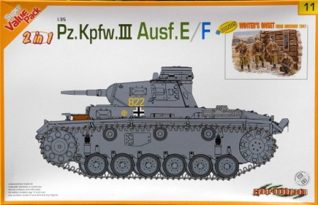 Panzer III Ausf E/F with figure set