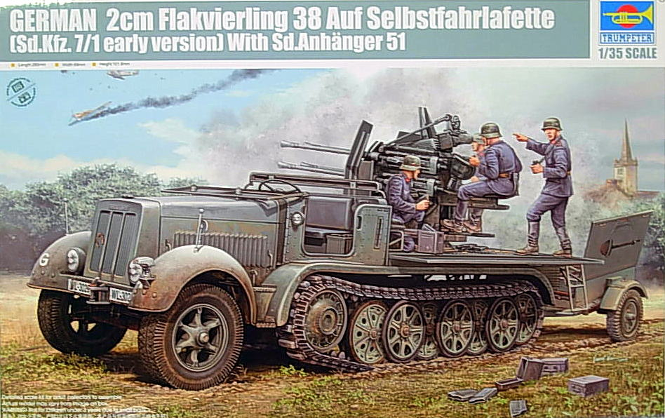 2cm Flakvierling SdKfz 7/1 Early