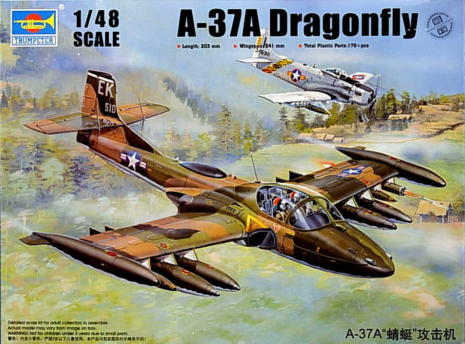 US A-37A Dragonfly Light Ground-Attack Aircraft