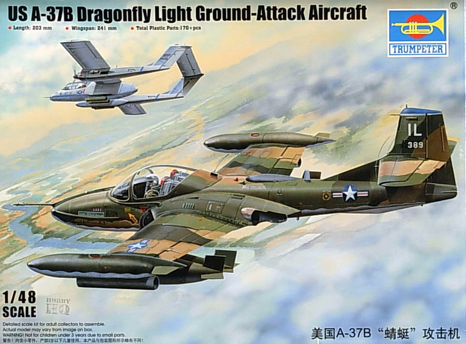 US A-37B Dragonfly Light Ground-Attack Aircraft
